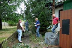 Arbeiten auf dem Vereinsgelände 2007