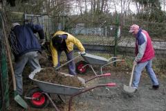Arbeiten auf dem Vereinsgelände 2008